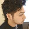 ワイルドな髪型!おしゃれネオ七三パーマ│メンズヘアスタイル