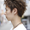 スモーキーアップバングスタイル|メンズ髪型