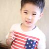 ツーブロック+アップバングキッズスタイル|子供ヘアスタイル髪型