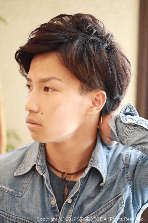 外国人風パーマ・メンズ髪型